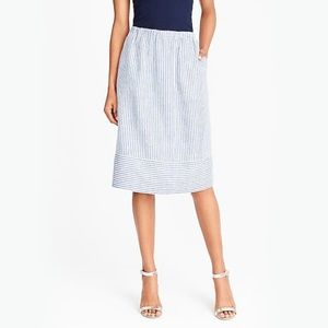 J.Crew Factory striped skirt with pockets!